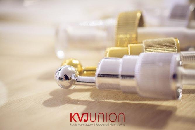 หัวปั๊มพลาสติกชุบทองและเงิน (1)