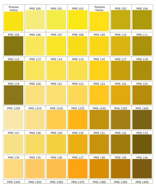 ตารางสีสำหรับพลาสติก