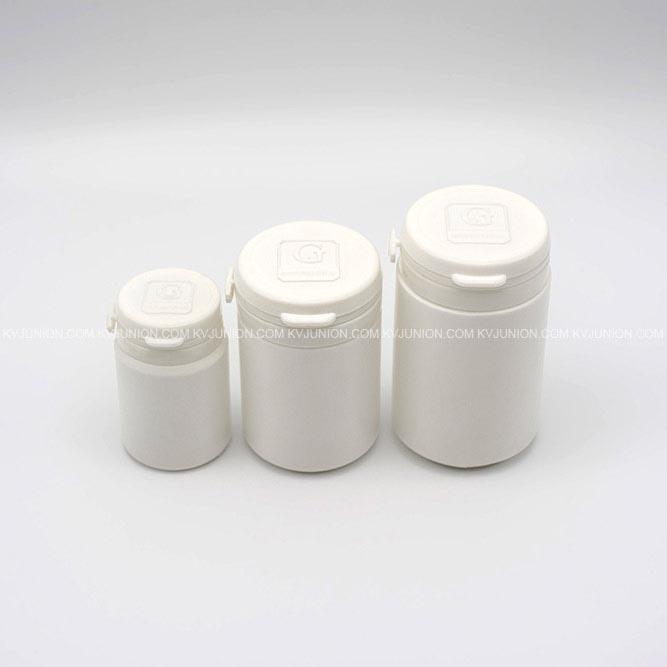MP53CM ขวดยาเม็ด ฝาฉีก 40 กรัม 80 กรัม 120 กรัม มีโลโก้นูนบนฝา (3)