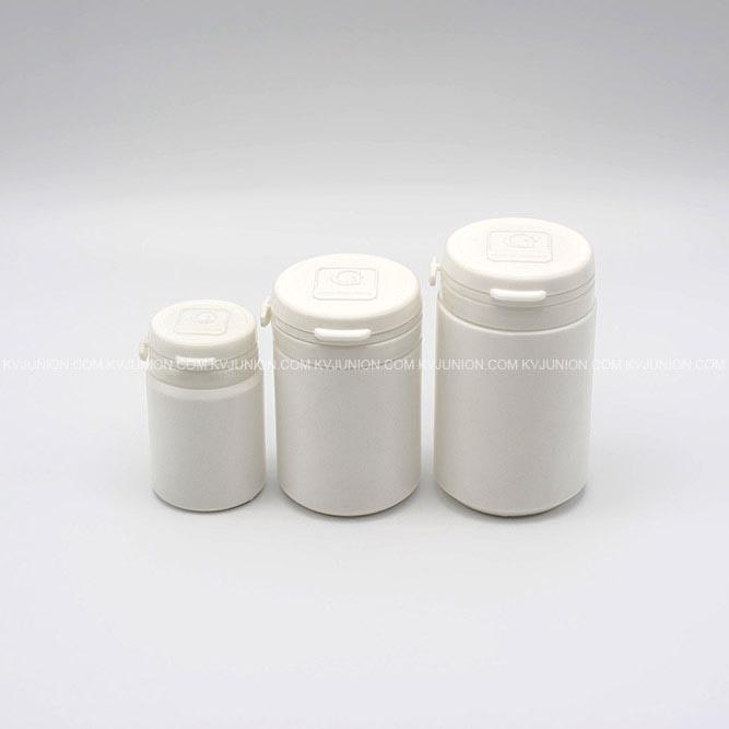 MP53CM ขวดยาเม็ด ฝาฉีก 40 กรัม 80 กรัม 120 กรัม มีโลโก้นูนบนฝา (2)