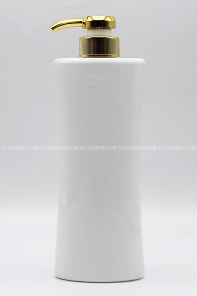 MP72CM ขวดปั๊มครีมขาวเงา พร้อมปั๊มทองเงา (1)