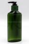 MP77CM ขวดปั๊มครีมสีเขียวใสพร้อมโลโก้นูนบนขวด และ ปั๊มสีเขียวสลับดำ (4)